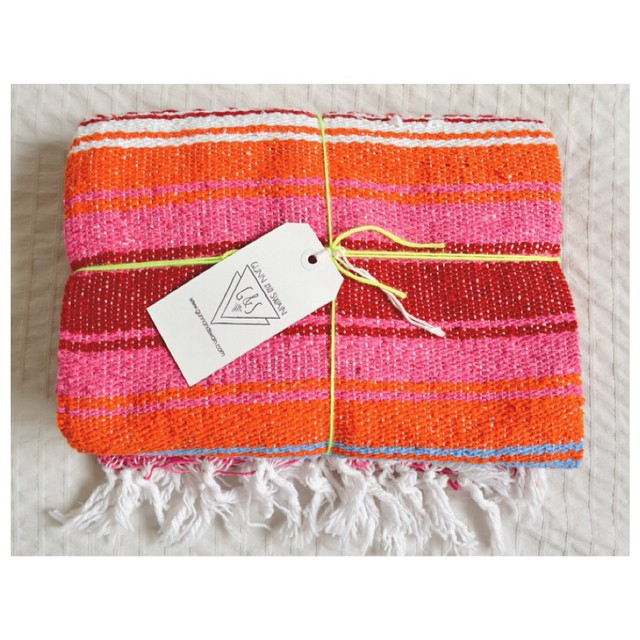 Gunn & Swain Mexican blankets for the win! We love their collection of blankets, baby moccasins, totes, & more | #kidolo #gunnandswain #decor #interiordesign #nursery | kidolo.com |