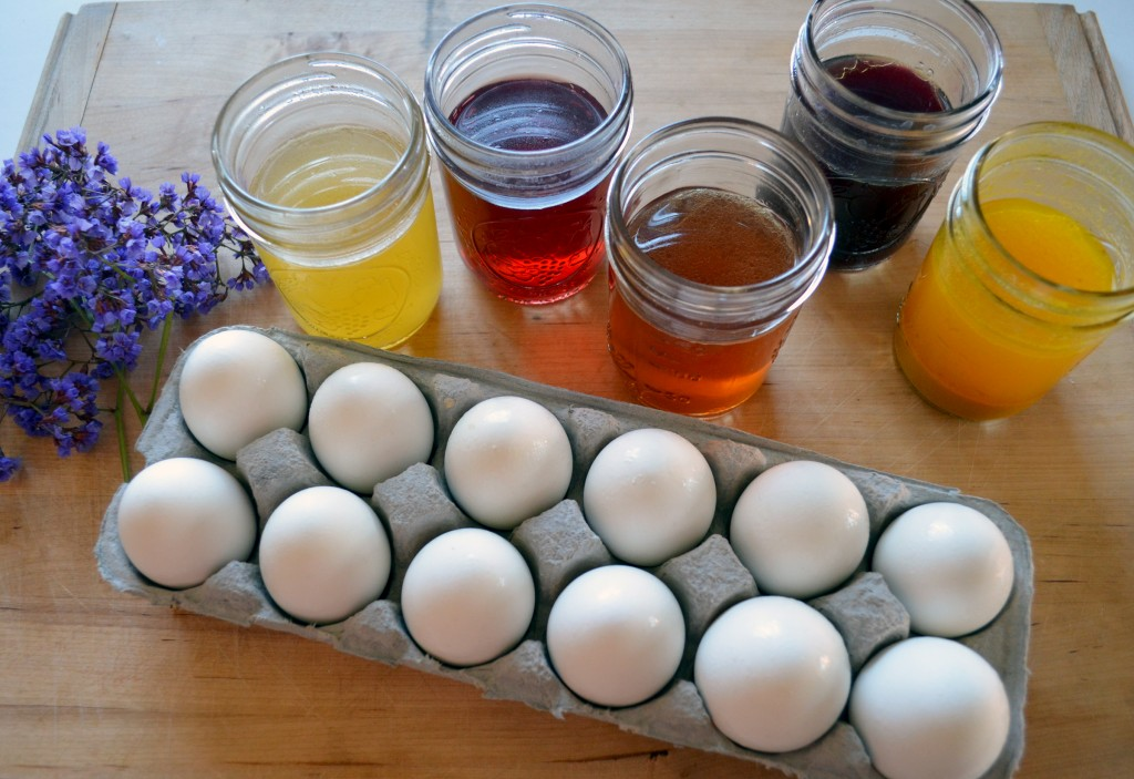 naturally dyed Easter eggs - Natural Egg Dye 2