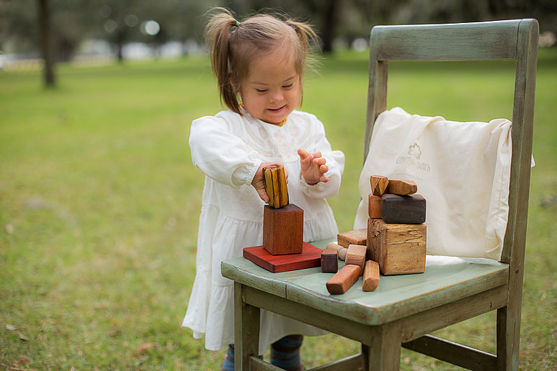 Clover and Birch open-ended play wooden blocks