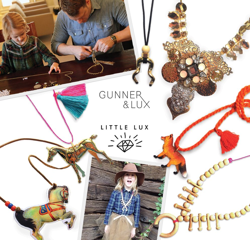 Gunner and Lux little lux kids jewelry dress up